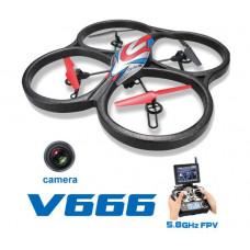 Квадрокоптер большой р/у WL Toys V666 Cyclone с FPV системой 5.8GHz